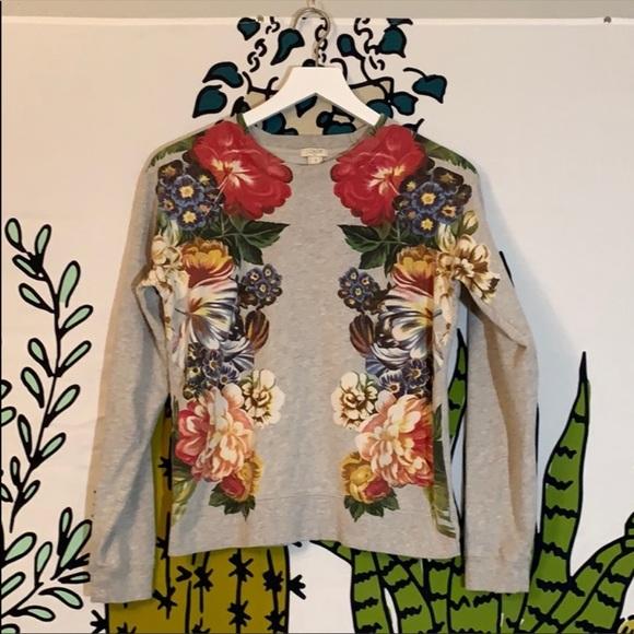 J. Crew Factory Tops - J. Crew Floral Graphic Sweatshirt